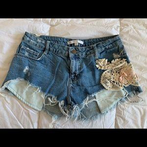 ZARA womens Jean Shorts